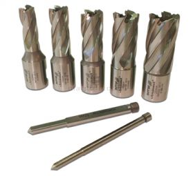 Rotabroach 5 Piece 25mm Short Reach Cutter Pack RAP120 12mm, RAP140 14mm, RAP160 16mm, RAP180 18mm, RAP200 20mm Diameter
