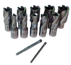 Rotabroach 12 Piece 50mm Long  Reach Cutter Pack 12mm - 30mm