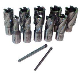 Rotabroach 12 Piece 50mm Long  Reach Cutter Pack 12mm - 30mm