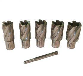 Rotabroach 5 Piece 25mm Short Reach Cutter Pack RAP 220 22mm, RAP 240 24mm, RAP 260 26mm, RAP280 28mm, RAP300 30mm Diameter
