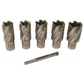 Rotabroach 6 Piece 50mm Long Reach Cutter Pack 22mm - 30mm