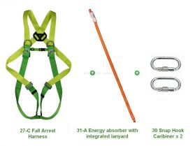 Climax 27-C Fall Arrest Energy Absorbing Lanyard Kit