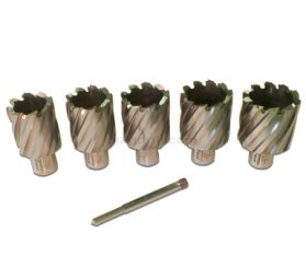 Rotabroach 6 Piece 50mm Long Reach Cutter Pack RAPL320 32mm, RAPL340 34mm, RAPL360 36mm, RAPL380 38mm, RAPL400 40mm Diameter