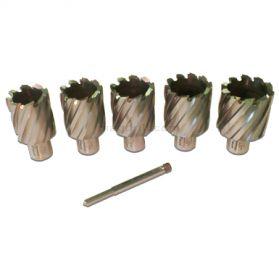 Rotabroach 6 Piece 50mm Long Reach Cutter Pack RAPL320 32mm, RAPL340 34mm, RAPL360 36mm, RAPL380 38mm, RAPL400 40mm Diameter