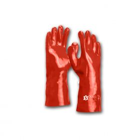 Sacobel Red PVC Gauntlets Size 10 - Pack of 12