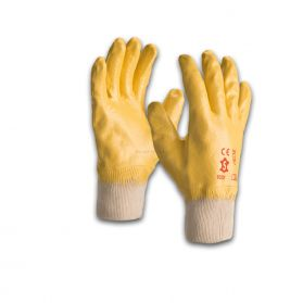 SACOBEL YELLOW NITRILE GLOVES - SIZE 8 -  PACK OF 12