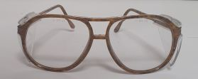 Honeywell Pulsafe Safety Work Glasses Brown Rim Clear Lens HI-STYLE 6012T