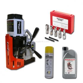 Essential MiniBeast MagDrill Kit 1 - JEI MiniBeast MagDrill, 7 Piece Rotabroach Cutter Kit & Lubricants