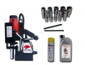 MagDrill Farming Kit 2 - Rotabroach Panther MagDrill, 12 Piece Rotabroach Cutter Kit & Lubricants