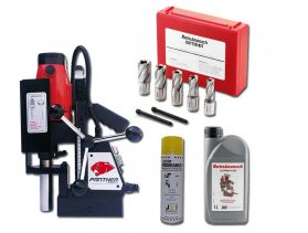 MagDrill Farming Kit 1 - Rotabroach Panther MagDrill, 7 Piece Rotabroach Cutter Kit & Lubricants