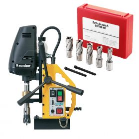 Engineering Kit 1 - Powerbor PB35 FRV MagDrill, 7 Piece Rotabroach Cutter Kit  (240V)