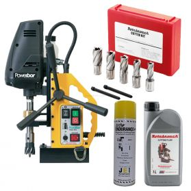Engineering Kit 2 - Powerbor PB35 FRV MagDrill, 7 Piece Rotabroach Cutter Kit & Lubricants  (110V)