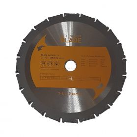 "7-1/4"" TCT Multi-Purpose Circular Saw Blade 185mm x 20T"