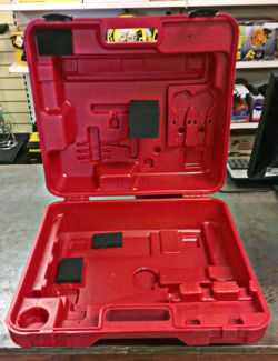 High impact moulded plastic carry case for the Rotabroach Puma