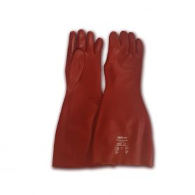 NORTH CHEM STRONGOFLEX SUPER RED PVC CHEMICAL GAUNTLETS SIZE 9