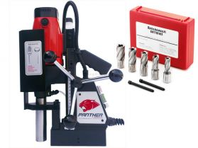 Rotabroach Panther Magnetic Hole Drilling Machine With Rotabroach RAPK2000 Cutter Kit