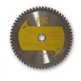 "7"" TCT STAINLESS STEEL CIRCULAR SAW BLADE 180MM X 60T"