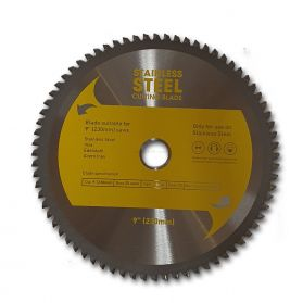 "9"" TCT STAINLESS STEEL CIRCULAR SAW BLADE 230MM X 72T"