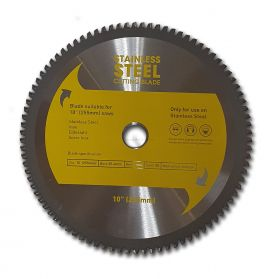 "10"" TCT STAINLESS STEEL CIRCULAR SAW BLADE 255MM X 90T"